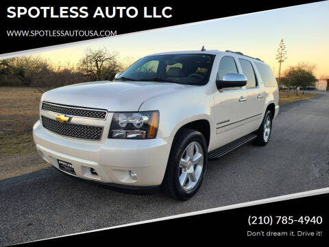 2010 Chevrolet Suburban for sale at SPOTLESS AUTO LLC in San Antonio TX