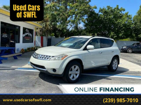 2007 Nissan Murano for sale at Used Cars of SWFL in Fort Myers FL