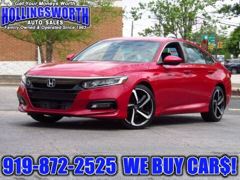 2018 Honda Accord for sale at Hollingsworth Auto Sales in Raleigh NC