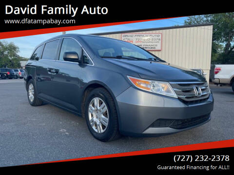 2013 Honda Odyssey for sale at David Family Auto in New Port Richey FL