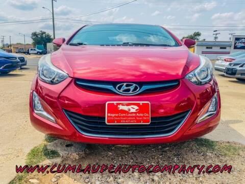 2016 Hyundai Elantra for sale at MAGNA CUM LAUDE AUTO COMPANY in Lubbock TX