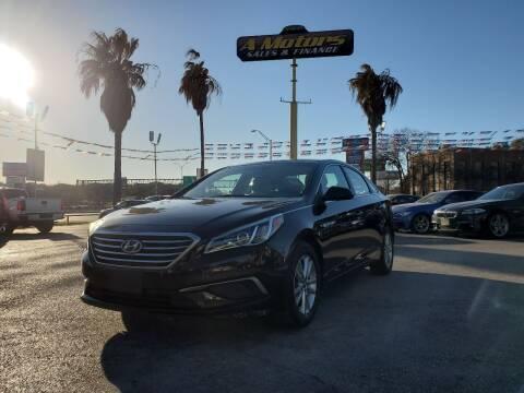 2016 Hyundai Sonata for sale at A MOTORS SALES AND FINANCE - 5630 San Pedro Ave in San Antonio TX