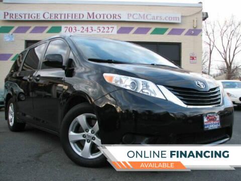 2017 Toyota Sienna for sale at Prestige Certified Motors in Falls Church VA