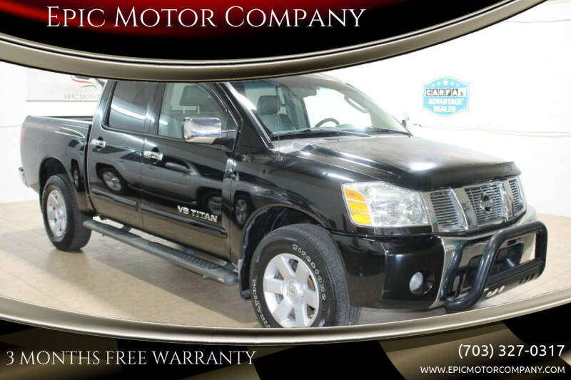 2005 Nissan Titan for sale at Epic Motor Company in Chantilly VA