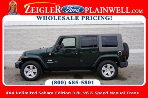 2010 Jeep Wrangler Unlimited for sale at Zeigler Ford of Plainwell- michael davis in Plainwell MI
