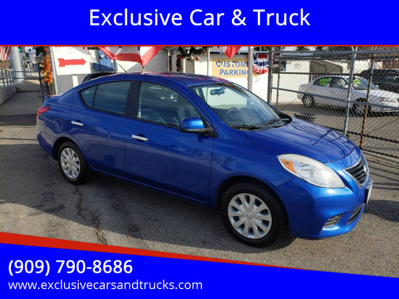 2013 Nissan Versa for sale at Exclusive Car & Truck in Yucaipa CA