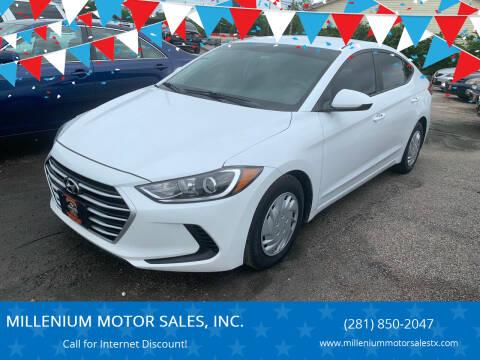 2017 Hyundai Elantra for sale at MILLENIUM MOTOR SALES, INC. in Rosenberg TX