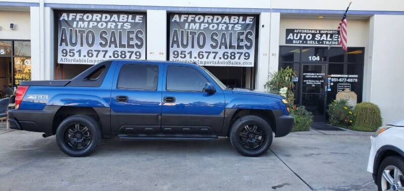 2003 Chevrolet Avalanche for sale at Affordable Imports Auto Sales in Murrieta CA