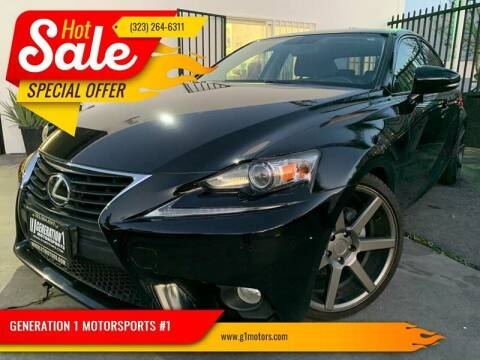 2014 Lexus IS 250 for sale at GENERATION 1 MOTORSPORTS #1 in Los Angeles CA