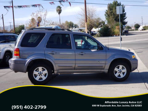 2007 Ford Escape Hybrid for sale at Affordable Luxury Autos LLC in San Jacinto CA