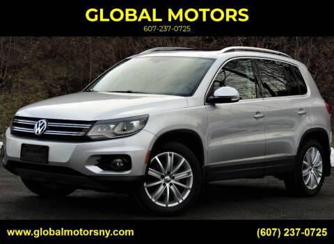 2016 Volkswagen Tiguan for sale at GLOBAL MOTORS in Binghamton NY