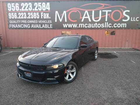 2015 Dodge Charger for sale at MC Autos LLC in Pharr TX