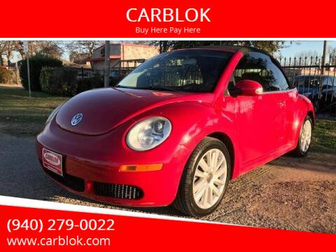 2008 Volkswagen New Beetle Convertible for sale at CARBLOK in Lewisville TX