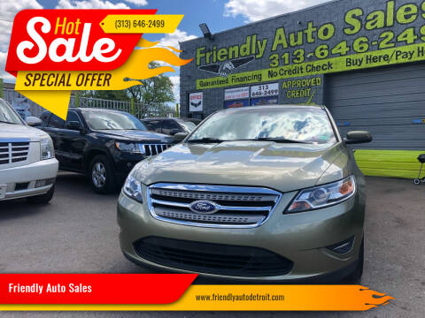 2012 Ford Taurus for sale at Friendly Auto Sales in Detroit MI