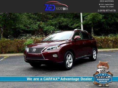 2013 Lexus RX 350 for sale at Zed Motors in Raleigh NC