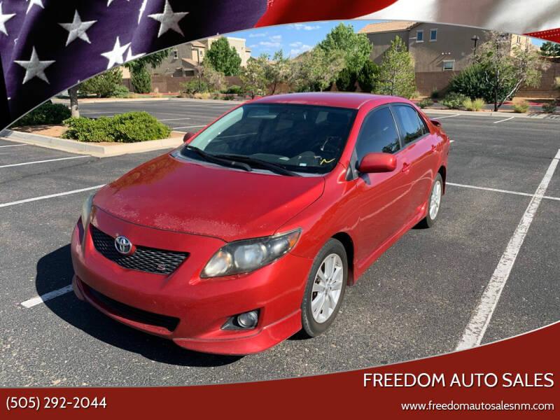 2010 Toyota Corolla for sale at Freedom Auto Sales in Albuquerque NM