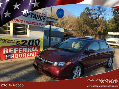 2007 Honda Civic for sale at Acceptance Auto Sales Douglasville in Douglasville GA