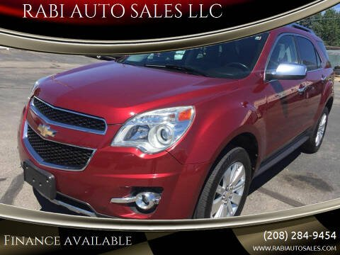 2011 Chevrolet Equinox for sale at RABI AUTO SALES LLC in Garden City ID