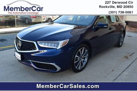 2019 Acura TLX for sale at MemberCar in Rockville MD