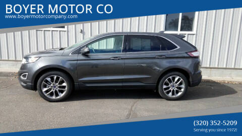 2016 Ford Edge for sale at BOYER MOTOR CO in Sauk Centre MN