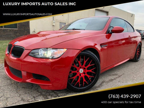 2008 BMW M3 for sale at LUXURY IMPORTS AUTO SALES INC in North Branch MN