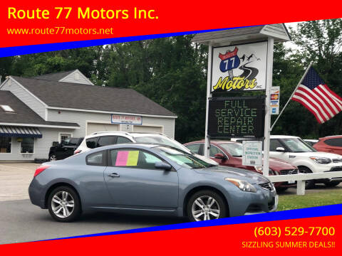 2012 Nissan Altima for sale at Route 77 Motors Inc. in Weare NH