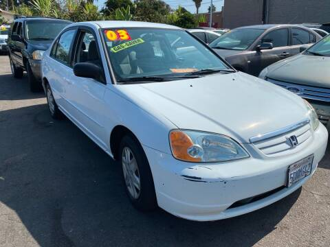 2003 Honda Civic for sale at North County Auto in Oceanside CA