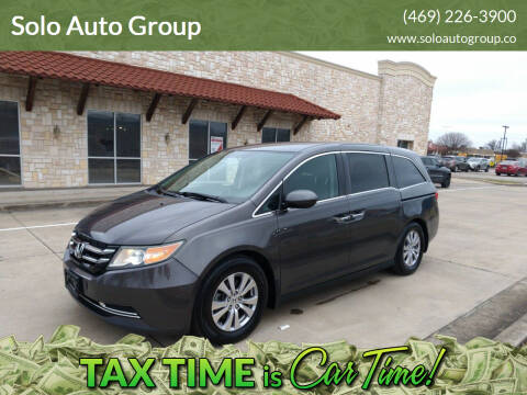 2016 Honda Odyssey for sale at Solo Auto Group in Mckinney TX
