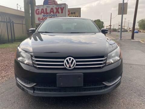 2014 Volkswagen Passat for sale at GALAXY MOTORS in Tucson AZ
