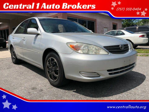 2002 Toyota Camry for sale at Central 1 Auto Brokers in Virginia Beach VA