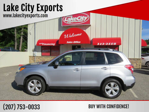2016 Subaru Forester for sale at Lake City Exports in Auburn ME