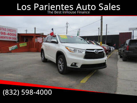 2014 Toyota Highlander for sale at Los Parientes Auto Sales in Houston TX