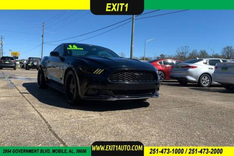 2016 Ford Mustang for sale at Exit 1 Auto in Mobile AL