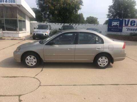 2003 Honda Civic for sale at Velp Avenue Motors LLC in Green Bay WI