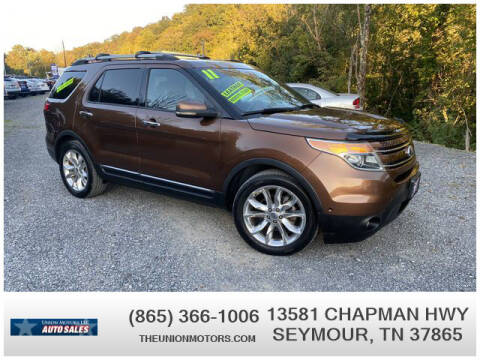 2011 Ford Explorer for sale at Union Motors in Seymour TN