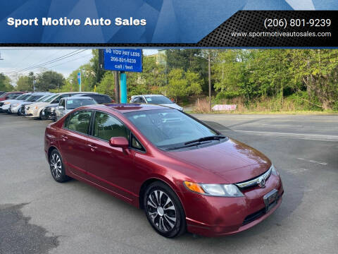 2007 Honda Civic for sale at Sport Motive Auto Sales in Seattle WA