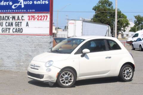 2013 FIAT 500 for sale at Alexander's Auto Sales in North Little Rock AR