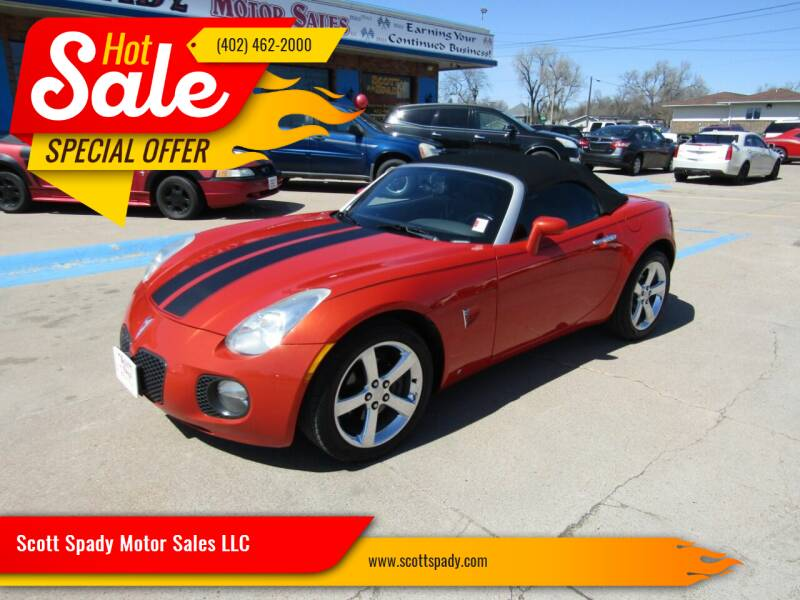 2008 Pontiac Solstice for sale at Scott Spady Motor Sales LLC in Hastings NE
