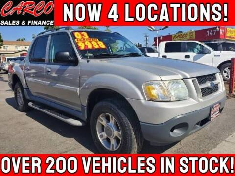 2003 Ford Explorer Sport Trac for sale at CARCO SALES & FINANCE #3 in Chula Vista CA