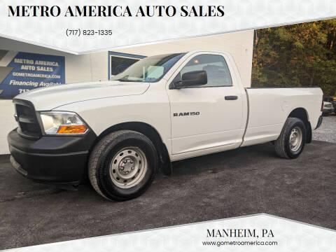2012 RAM Ram Pickup 1500 for sale at METRO AMERICA AUTO SALES of Manheim in Manheim PA