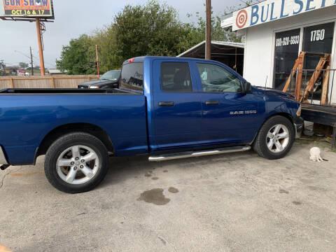 2011 RAM Ram Pickup 1500 for sale at BULLSEYE MOTORS INC in New Braunfels TX