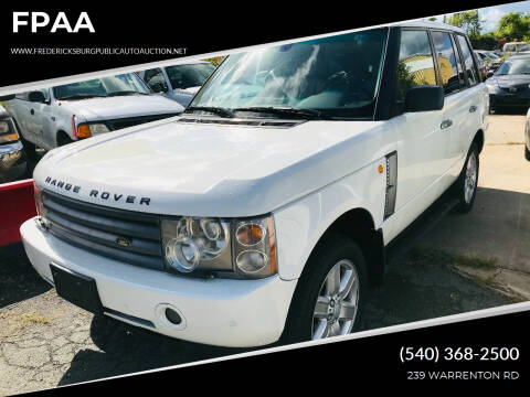 2004 Land Rover Range Rover for sale at FPAA in Fredericksburg VA