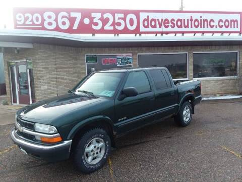 2002 Chevrolet S-10 for sale at Dave's Auto Sales & Service in Weyauwega WI
