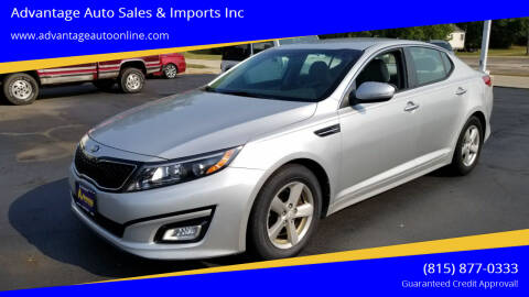 2014 Kia Optima for sale at Advantage Auto Sales & Imports Inc in Loves Park IL