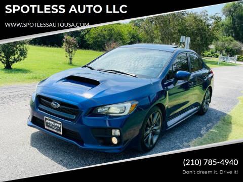 2016 Subaru WRX for sale at SPOTLESS AUTO LLC in San Antonio TX