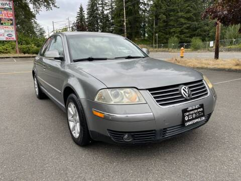 2004 Volkswagen Passat for sale at CAR MASTER PROS AUTO SALES in Lynnwood WA