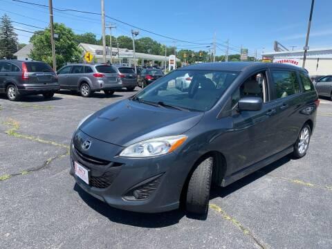2012 Mazda MAZDA5 for sale at M & J Auto Sales in Attleboro MA