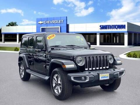 2018 Jeep Wrangler Unlimited for sale at CHEVROLET OF SMITHTOWN in Saint James NY
