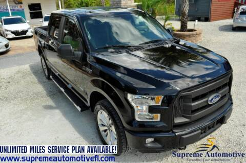 2016 Ford F-150 for sale at Supreme Automotive in Land O Lakes FL