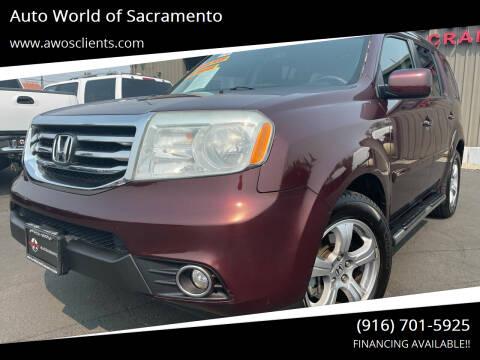 2012 Honda Pilot for sale at Auto World of Sacramento Stockton Blvd in Sacramento CA